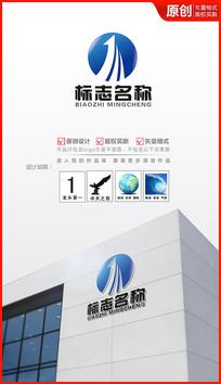 飞跃上升logo设计商标设计
