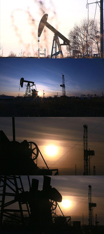 磕头机石油工人实拍视频素材