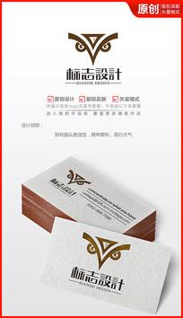 猫头鹰logo设计