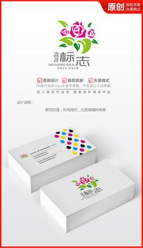 鲜花荟萃logo设计
