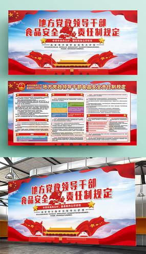 中共中央食品责任制度规定展板