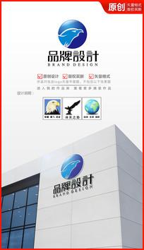 冲击雄鹰logo设计商标设计 AI