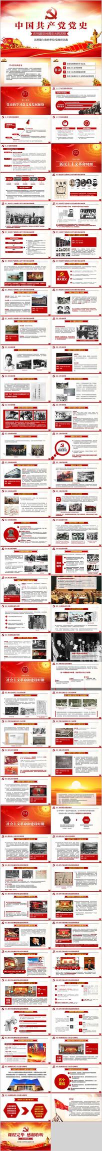 建党98周年党史PPT