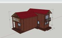 5D电影院SU模型小木屋