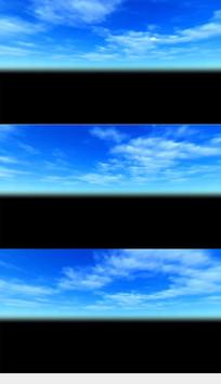 蓝天白云带通道视频素材