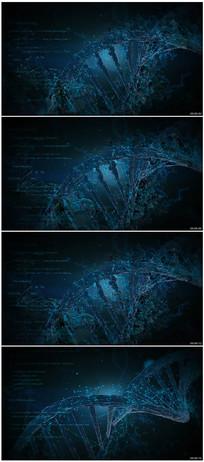 三维DNA螺旋形结构视频素材