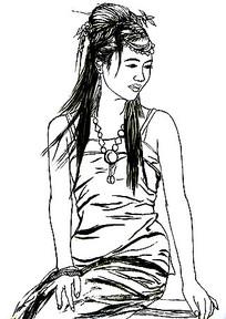 古典美女插画