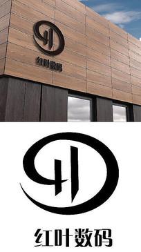 红叶数码店logo