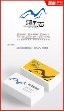 起伏高山logo设计