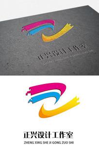 三彩广告设计公司logo