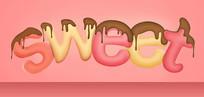 sweet糖果卡通文字