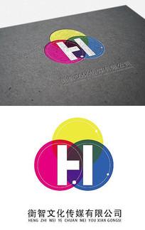 图文店三原色logo
