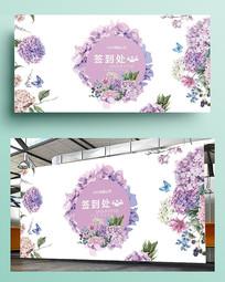 鲜花浪漫签到墙