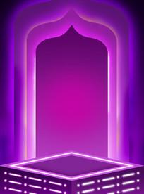 原创元素紫色海报背景素材