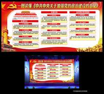 中共中央关于加强党的政治建设展板