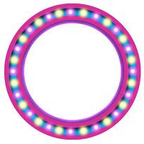 紫色立体圆环素材