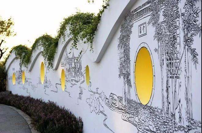 各种好玩的景观墙
