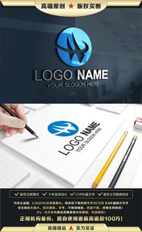 H字母科技建筑网站LOGO