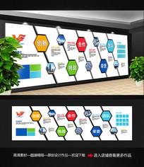 简约企业历程文化墙