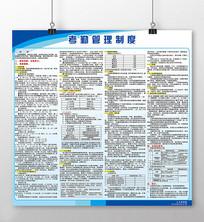 蓝色简约企业考勤管理制度展板