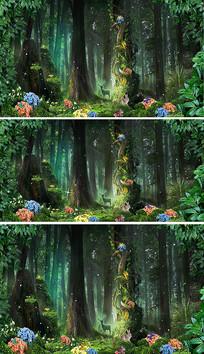 绿色森林背景视频素材
