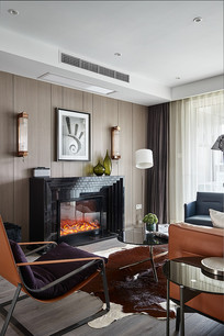 现代混搭风格的温暖客厅
