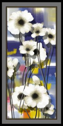 抽象油画花卉现代装饰画