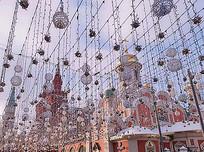 冬季庆典活动灯光氛围布置