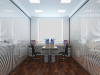 简单员工办公室装修3D模型
