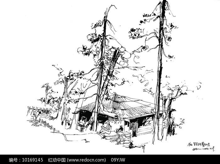 原创设计稿 方案意向 手绘素材 军营别墅写生  请您分享: 素材描述:红