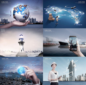科技商务海报模板