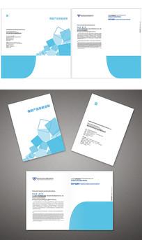 蓝色大气商业封面封套设计