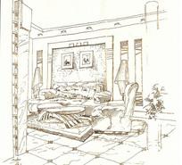 样板房室内手绘 JPG