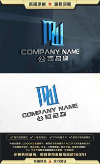 M字母标志商标LOGO设计