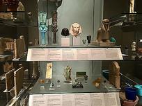 埃及博物馆展厅展示文物