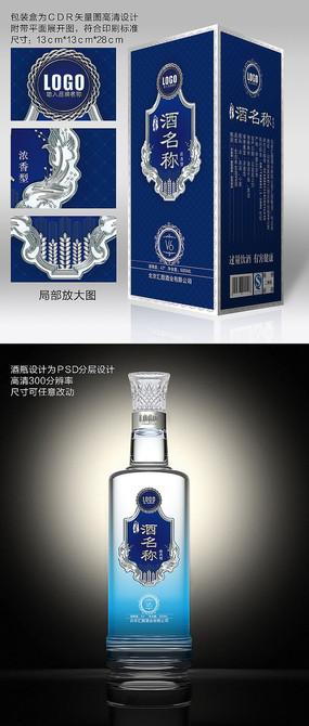 高端商务酒瓶酒包装 CDR