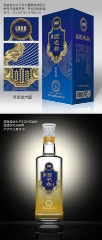高端商务酒瓶酒包装