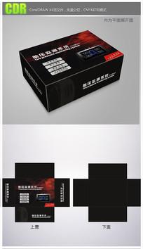 黑红背景胎压监测器包装 CDR