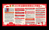 解读2019两会政协工作报告展板