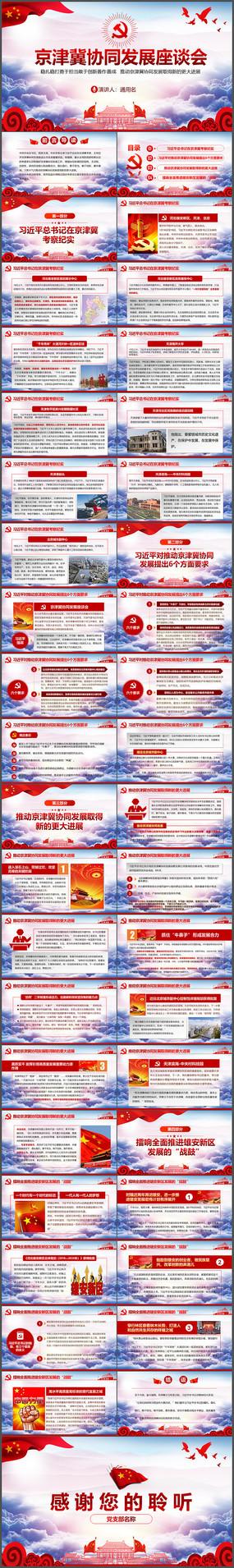 京津冀协同发展座谈会PPT