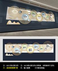 金属波纹风格企业文化墙