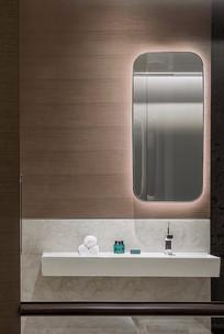 轻奢简约宾馆卫生间设计