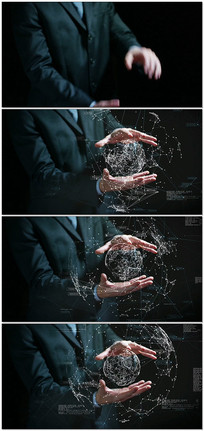 商务全息金融增强现实视频素材