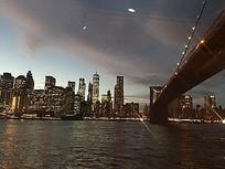 现代繁华高楼大厦城市灯光夜景