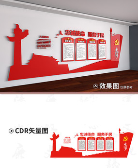 党员会议室文化墙设计