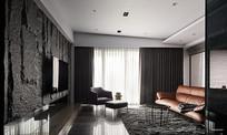简欧皮质家居室内客厅设计