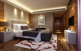 简约现代卧室3D模型