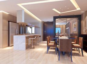家装现代餐厅3D模型