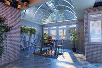家装小庭院3D模型