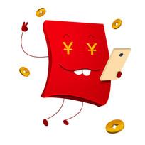 原创元素抢红包的红包素材